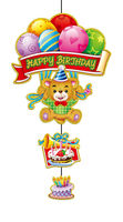 event party supplies birthday hanging decoration Balloon-bear-cake