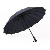 Men Long-Handle Umbrella Windproof Large Outdoor Umbrella Bumbersoll Straight Umbrella