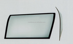 Fixed closed curved solid glass window for coach bus, mini-bus and commercial vehicles