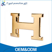 Fashion Women Zinc Alloy Alphabet H Shape Fancy Custom Metal Belt Buckle Manufacturers