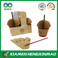 Customized good printing hot drinking/coffee cup carrier from China manufacturer