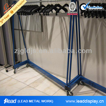 High Quality Clothing Display Stand Garment Metal Rack for Dry Cleaner Display