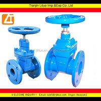 din cast iron resilient valves, non-rising stem gate valve