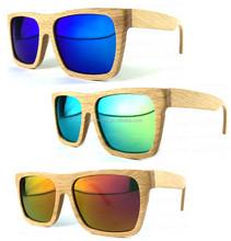 Three Color italy design Wood UV400 Mens Polarized Sunglasses