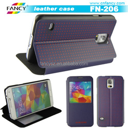 smart view touch screen leather case cover for Samsung galaxy phone case cover