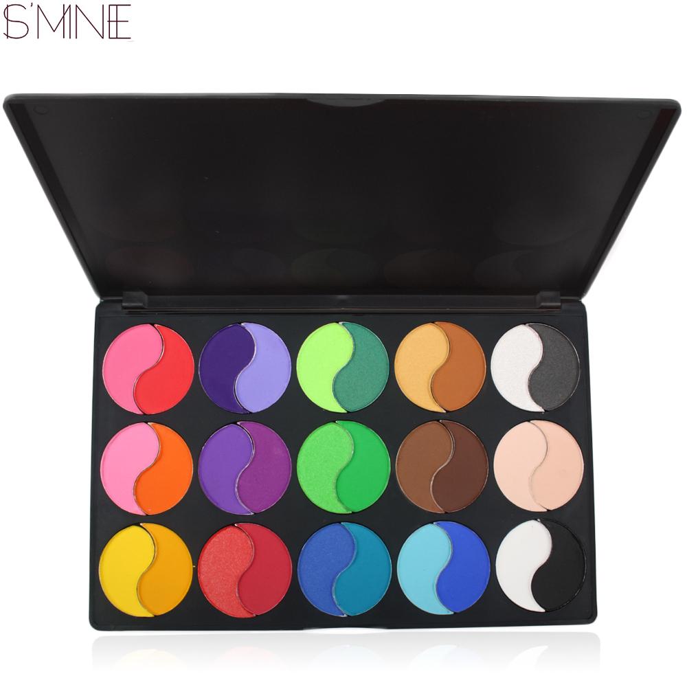 Yüksek Pigment Private Label 30 Renk Tai Chi Şekli Mat Göz Farı Paleti