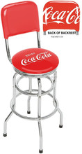 Officially Licensed Beer Brand Logo Vinyl Padded Swivel Chrome Steel Bar Stools