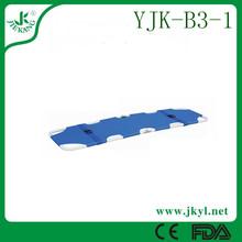 high strength alloy folding /hospital canvas stretcher for sale YJK-B3-1