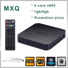android 4.4 xbmc box mxq tv box amlogic S805 ott tv box