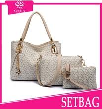 China Manufacture Casual Women leather Bag Pattern 3 Piece Set bags handbags fashion 2015