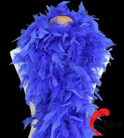 Wholesale dyed royal blue fashion turkey chandelle feather boa for decorations