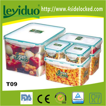 Set of 6pcs stackable plastic boxes for food storage