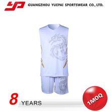 High Standard Latest Style Best Basketball Uniform Design Color Blue