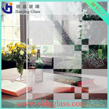 Haojing shower screen pattern glass with different designs