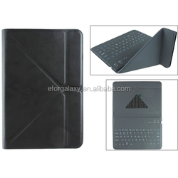 New china supplier Keyboard Universal Ultra-thin Bluetooth Keyboard with Leather Case & Holder for 7.89 inch Tablet PC(Black)
