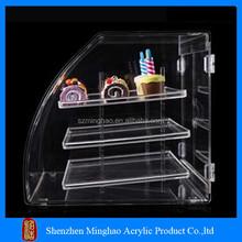 Top popular acrylic cake display shelf/acrylic cake box