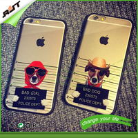 2015 hot sale cool animals TPU mobile phone case for iPhone 6 plus