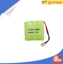 3.6V 120mAh rechargeable ni mh battery 1/3 aaa