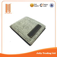 New style factory supplier of custom man leather wallet