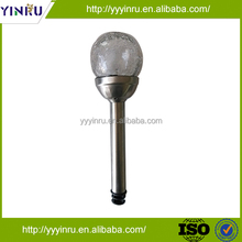 YINRU Cheap and high quality solar stainless steel glass globe light