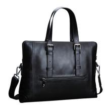 FEGER New Leather Business Men Conference Bag Bolsa Masculina Documents Holder Bag