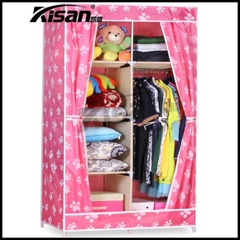 Armario de almacenamiento port til tela plegable armarios for Gabinete de almacenamiento dormitorio