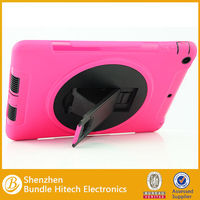 high quality PC + Silicone Combo Case for iPad Air with Kicktand