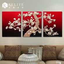 3d new design abstract oil painting, modern portraits paintings, leaves canvas painting