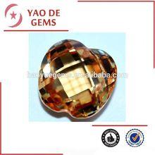 15m Apple Shape Champagne Cubic Zirconia Pendant Stone/Rings Jewelry/bead wholesale