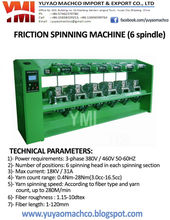 Recycled cotton spinning machine to make mop yarn