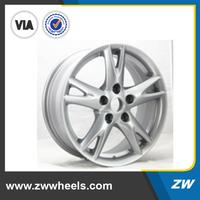 ZW-Z6005 2015 silver,gray,hyper silver,chrome,black,machine face car 3 spoke wheel