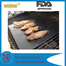 2pcs Reusable Non-stick Grill Mat Hot Plate Liner Easy Clean Camping