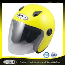 Alibaba online yellow open face helmet motorcycle part for sale