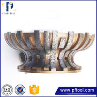 2015 Hot sale low price glass grinding sintered profile wheel