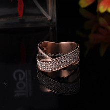 Hot New Products For 2015 316L Stainless Steel Gold Latest Wedding Ring Designs