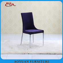 Purple Fabric Chrome Legs in Cheap Used Furniture