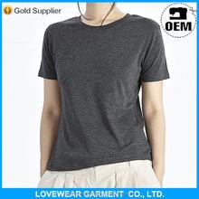 women print custom round neck plain t-shirt manufacturer