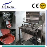 semi automatic tomato paste/sauce pulper maker/pulping making machine, small scale ketchup processor/processing machine ALLUNDER