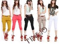 Korea Fashion Women's Casual Harem Pants Slim Cropped Capri Trousers 5 Colors plus size 14203