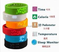 2015 Fashionable Digital Silicone Sports Smart Analog Digital Wrist Watch LED Watch