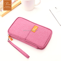 pink personalized business card holder passport holder bag handle bag for gift