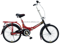 "20"" STEEL FRAME SUSPENSION SINGLE SPEED FOLDING BIKE"