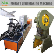 Automatic construction metal T grid ceiling keel making machine roll forming machine