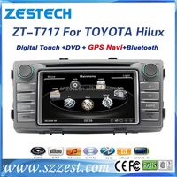 ZESTECH auto radio gps car dvd for Toyota Hilux support 3G BT audio DVB-T MP3 MP4 HDMI USB GPS DVD function