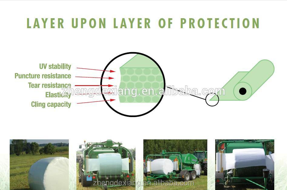 Popular Agriculture Grass Bale Silage Wrap