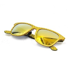 High Quality And Cool Carbon Fiber Sunglasses, Yellow Frame Polarized Sunglasses
