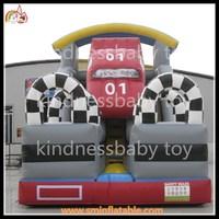 Motorcycle race inflatable slide inflatable car slide inflatable cracy cars slide