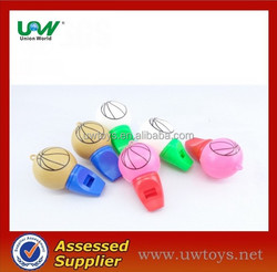 6pcs basketball whistles for promotional