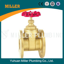 MILLER ML-1403 DN15 PN16 trade assurance brass material high temperature resistant smooh appearance Flange Brass Gate Valve