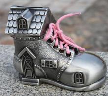 zinc alloy shoe shape money bank,metal house shape piggy bank